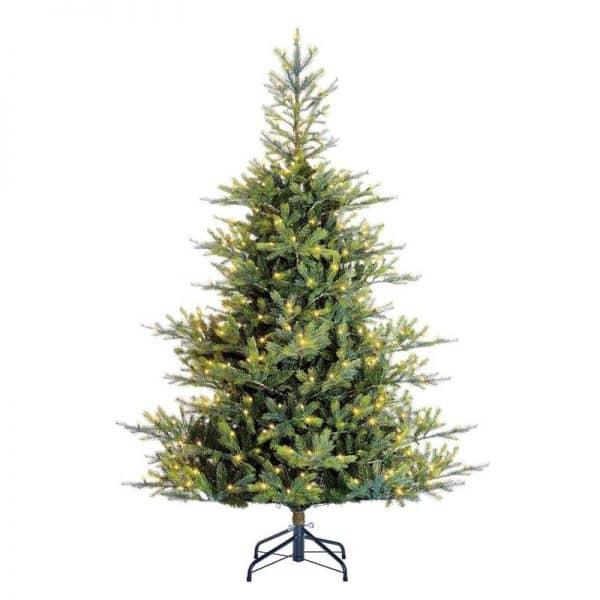 Black Box orford kerstboom met warmwit led donkergroen 220 lampjes tips 1421 maat in cm: 185 x 122