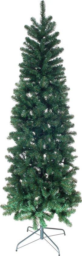 Smalle groene kunstkerstboom geschikt voor binnen en buiten
