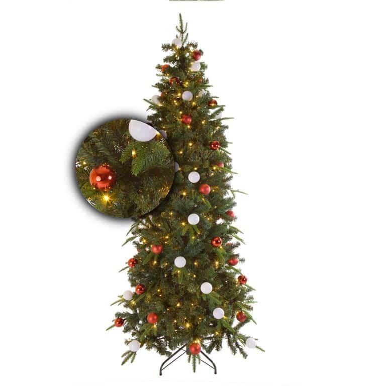 Kunstkerstboom 200 cm versierd groen