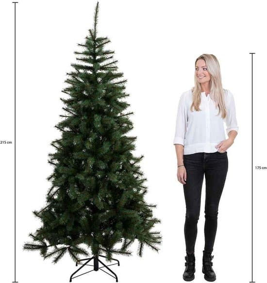 Triumph Tree smalle kunstkerstboom led sherwood spruce maat in cm: 215 x 117 groen 248 lampjes met warmwit led