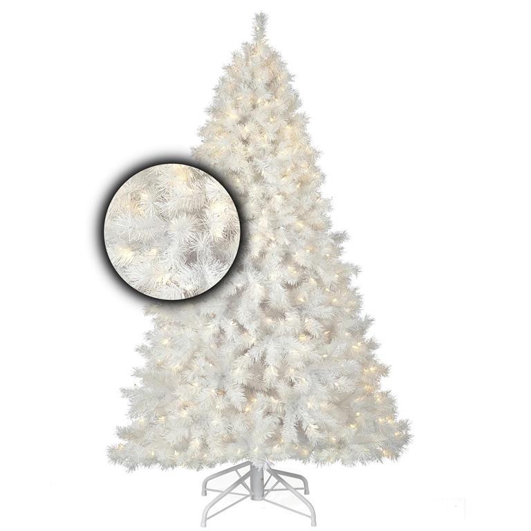 Witte kerstboom met verlichting Stavanger